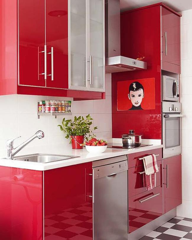 Reforma Integral Cocina Moderna Roja Your Home Building Company